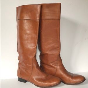 J crew leather riding campus boots 7